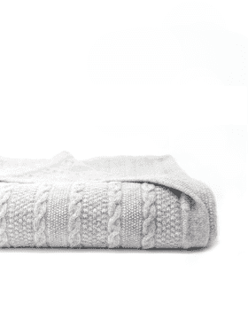 Cashmere Cable Knit Baby Blanket lower